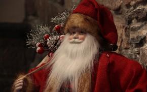 Картинка праздник, рождество, санта, веселый, сувенир санта клаус