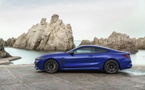 Картинка берег, купе, BMW, профиль, 2019, BMW M8, M8, M8 Competition Coupe, M8 Coupe, F92