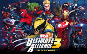 Картинка Team Ninja, Nintendo Switch, Marvel Ultimate Alliance 3: The Black Order