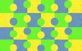 Картинка круги, синий, желтый, яркий, зеленый, фон, текстура, геометрия