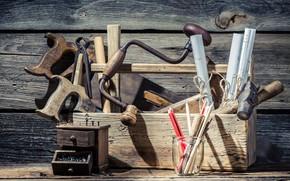 Картинка carpentry, manual dril, toolbox