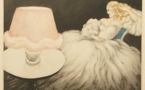 Картинка 1948, Louis Icart, Абажур