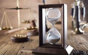 Картинка wood, time, hourglass