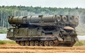 Картинка ЗРК, зенитный ракетный комплекс, Антей-300В, С-300В, Пусковая установка 9А83