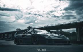 Картинка рендеринг, Авто, Машина, Ferrari F40, Спорткар, Graphic, Ferrari F-40, Transport & Vehicles, Red Legend, FLAT …