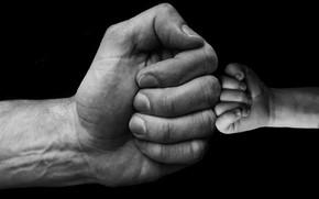 Картинка руки, кулаки, младенец, сын, папа, приветствие