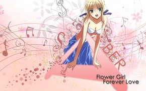 Картинка девушка, фон, розовый, сейбер, Судьба ночь схватки, Fate / Stay Night