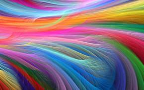 Картинка лучи, линии, узор, краски