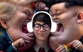 Картинка JBL, смешная реклама, Funny Advertising, noise cancelling headphones, Заблокируй хаос: мировые лидеры, Block out the …