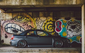 Картинка car, Subaru, Impreza, graffiti
