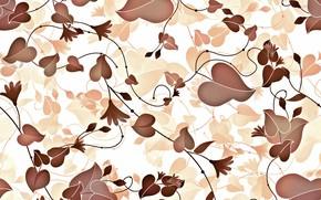 Картинка листья, фон, pattern