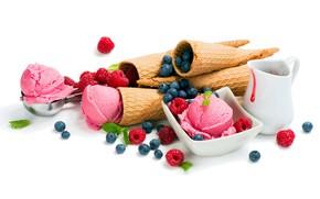 Картинка ягоды, мороженое, лакомство