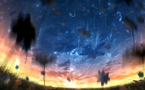 Картинка солнце, космос, ангел, девочка