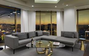 Картинка интерьер, мегаполис, гостиная, Las-Vegas, Delano