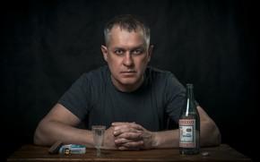 Картинка человек, бутылка, портрет, сигареты