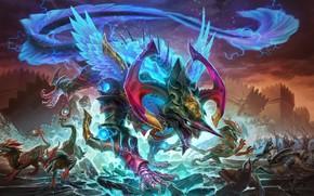 Картинка дракон, бог, game, dragon, god, Smite, Tiamat, Тиамат