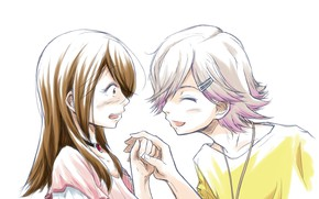Картинка девушка, парень, двое, Tsuki ga Kirei