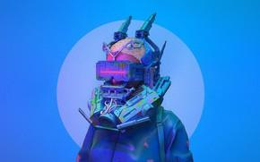 Картинка Цвет, Очки, Стиль, Голова, Маска, Fantasy, Style, Color, Фантастика, Fiction, Illustration, Технологии, Sci-Fi, Киберпанк, Science …