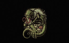Картинка Минимализм, Стиль, Ящер, Фон, Art, Style, Background, Marvel Comics, Helix, Spider-Man, Minimalism, Человек Паук, Lizard, …