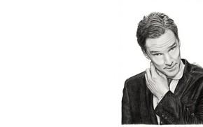 Картинка Бенедикт Камбербэтч, Benedict Cumberbatch, рисунок простым карандашом, by meikezane