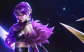 Картинка девушка, очки, Evelynn, League Of Legends