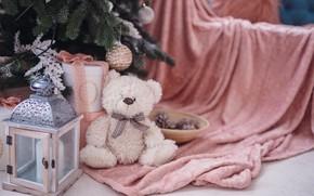 Картинка украшения, шары, елка, Новый Год, Рождество, подарки, Christmas, balls, design, pink, New Year, gift, room, …