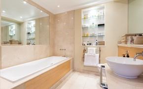 Картинка интерьер, ванная комната, ванная и туалетная комнаты