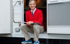 Картинка кеды, галстук, свитер, Том Хэнкс, Tom Hanks, Мистер Роджерс, Mr. Rogers