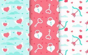 Картинка фон, Love, текстура, сердечки, pattern, Heart