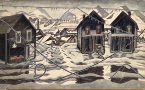 Картинка 1920, Charles Ephraim Burchfield, Ice Storm, Wires Down