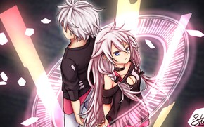 Картинка девушка, парень, Vocaloid, Вокалойд