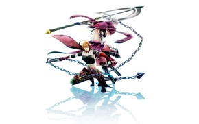 Картинка девушка, оружие, цепь, парень, Sengoku Basara, Эпоха Смут
