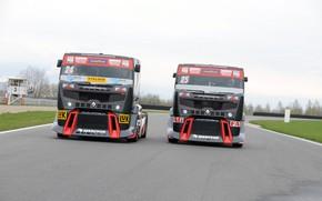 Картинка race, renault trucks, renault premium, truck racing
