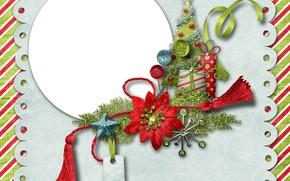 Картинка фон, елка, Рождество, Новый год, открытка, декор, шаблон