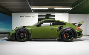 Картинка 911, Porsche, вид сбоку, Turbo S, TechArt, 2019, GT Street RS