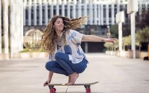Картинка девушка, скейт, Daisy Tonge
