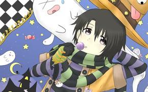 Картинка шляпа, арт, девочка, Форма голоса, Koe No Katachi, Форма Голоса