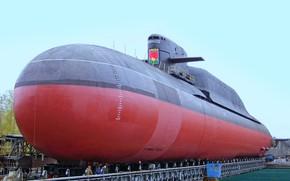 Картинка подводный, крейсер, атомный, ракетный