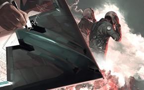 Картинка рука, арт, бомбардировщик, Northrop, пилоты, стратегический, B-2 Spirit