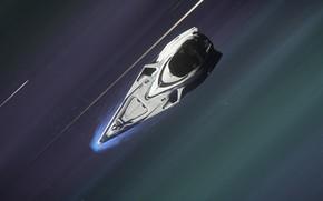Картинка космос, скорость, космический корабль, Star Citizen, гиперскорость