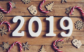 Картинка зима, снежинки, дерево, доски, Новый Год, new year, wood, winter, background, snowflakes, decoration, 2019