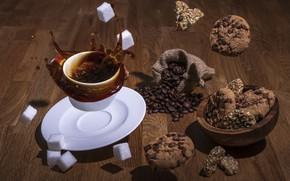 Картинка splash, sugar, tabletop, coffee splash