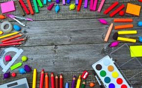 Картинка фон, карандаши, Краски