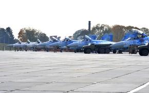 Картинка Украина, Су-27, Су-24МР, Су-27УБ, Су-24М, ВВС Украины