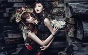 Картинка стиль, девушки, азиатки