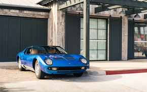 Картинка Lamborghini, Blue, Miura