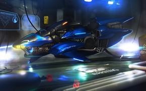 Картинка Будущее, Байк, Мотоцикл, Арт, Art, Фантастика, Concept Art, Транспорт, Vehicles, Cyberpunk, Transport, Transport & Vehicles, …
