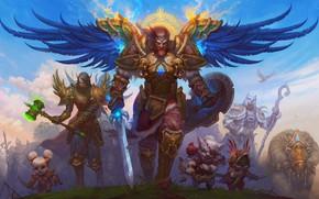 Картинка игра, крылья, воин, фэнтези, арт, онлайн, DragonFly Studio, Allods Online wallpapers
