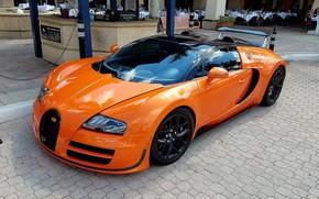 Картинка оранжевый, Veyron, Bugatti Veyron, гиперкар