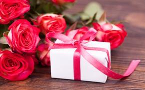 Картинка любовь, цветы, подарок, розы, букет, love, розовые, pink, flowers, beautiful, romantic, valentine's day, roses, gift …